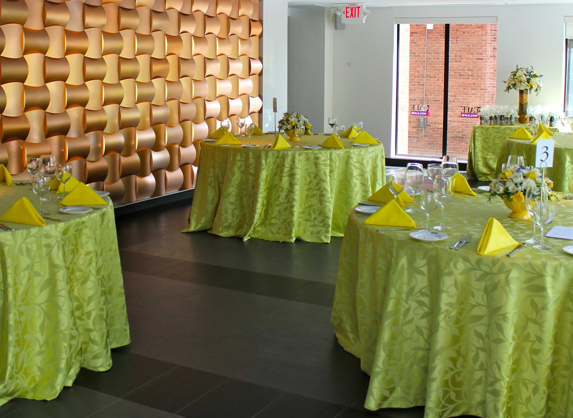 Cafe Milano event space in Washington DC, Maryland, Virginia, DC Area