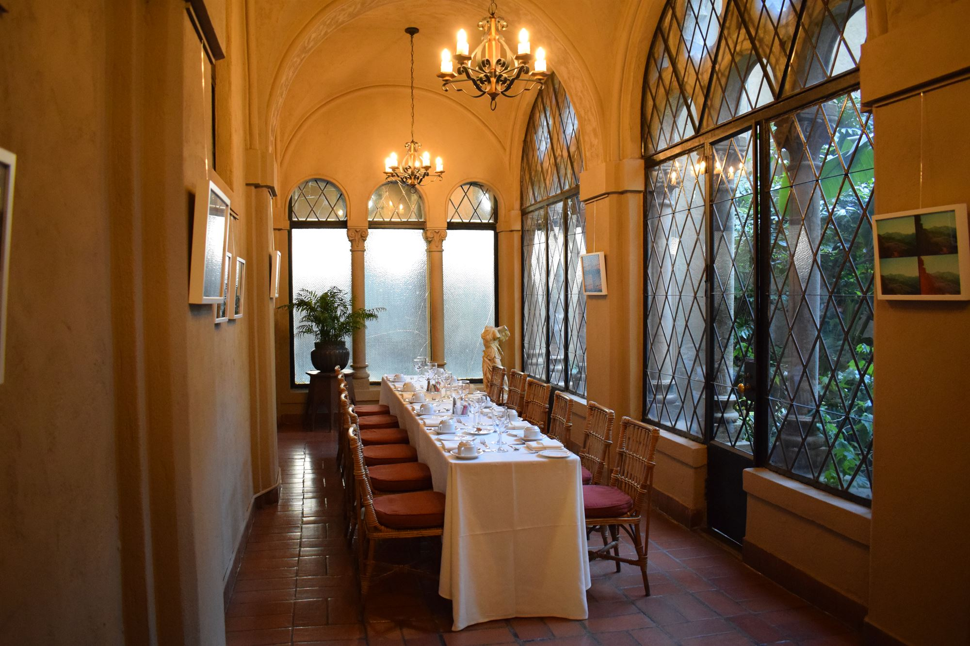 Loggia  event space at Berkeley City Club in Bay Area