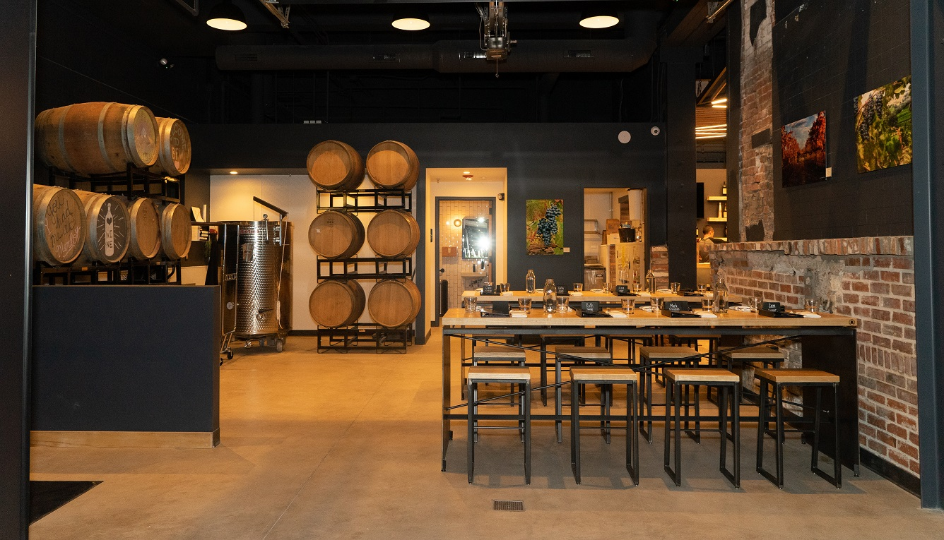 Full Winery Space event space at Blanchard Family Wines in denver