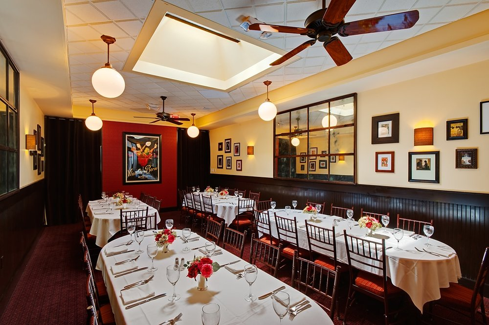 Semi-Private Dining event space at Cafe Deluxe - West End in Washington DC, Maryland, Virginia, DC Area