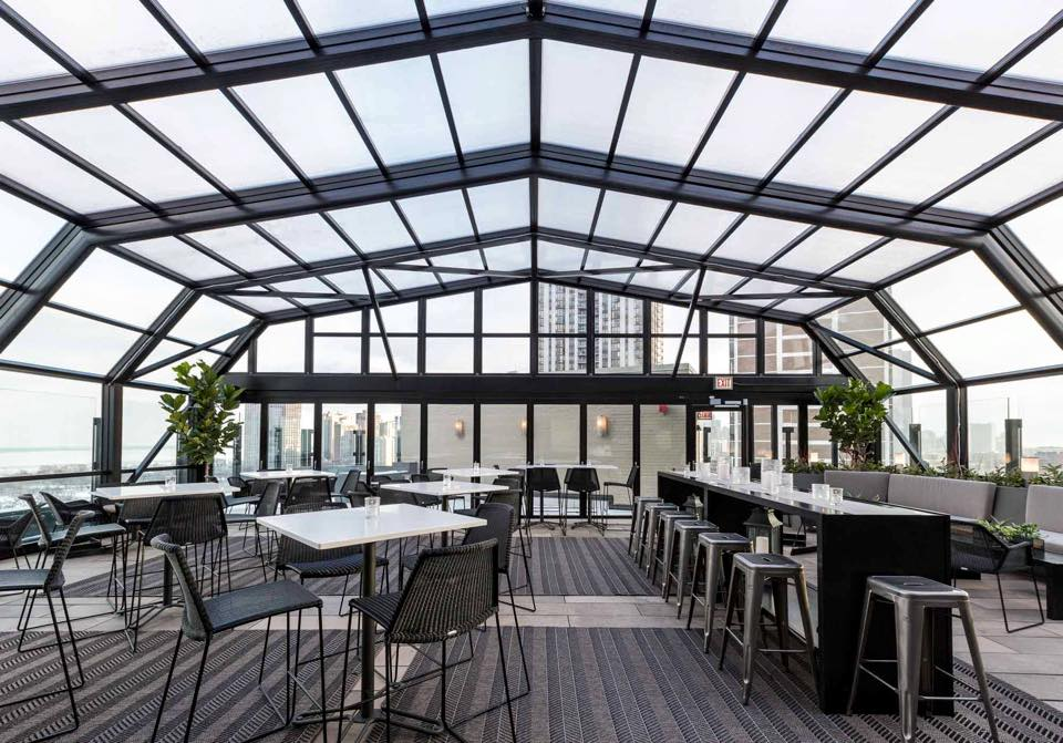 Atrium Buyout event space at J. Parker in Chicago, Chicagoland Area