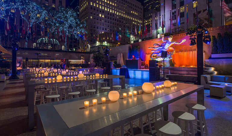 Gala Reception event space at Rock Center Cafe in New York City, NYC, NY/NJ Area