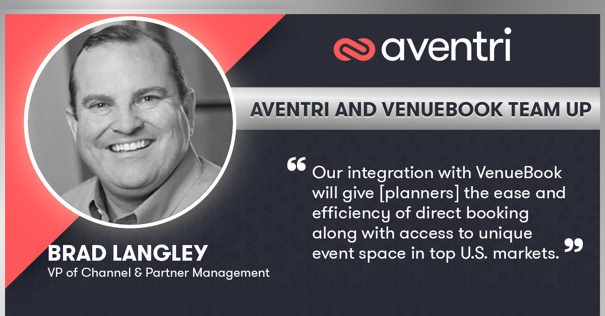 Aventri and VenueBook Team Up to Deliver Direct Booking in Meetings and Events Space