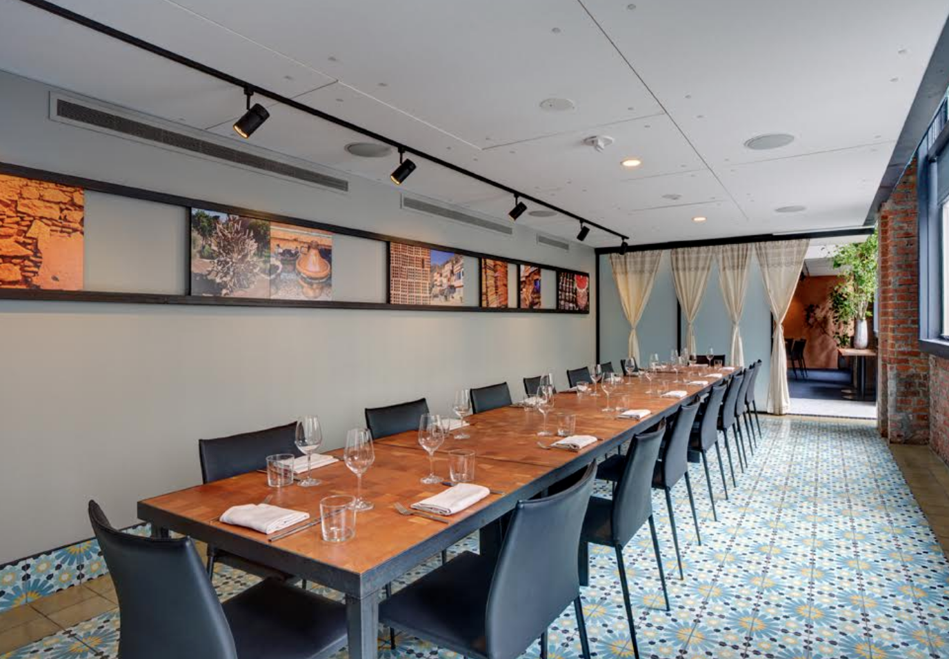 Boardroom event space at Mourad in San Francisco, SF Bay Area, San Fran