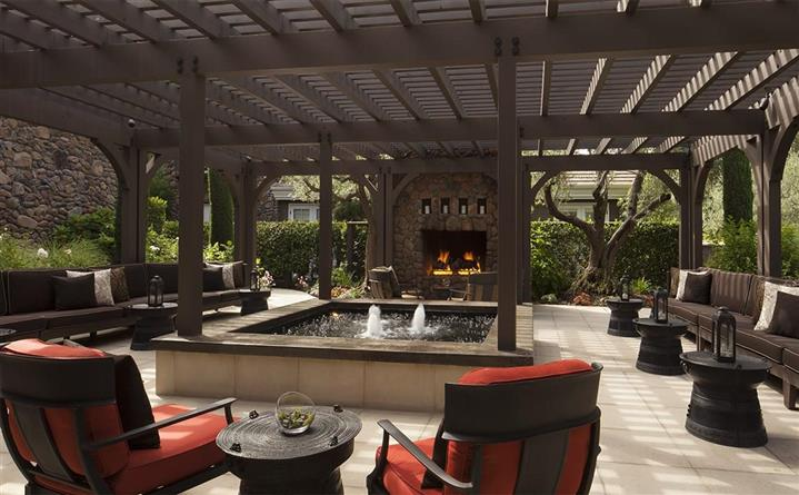 Pool Terrace event space at Hotel Yountville in San Francisco, SF Bay Area, San Fran