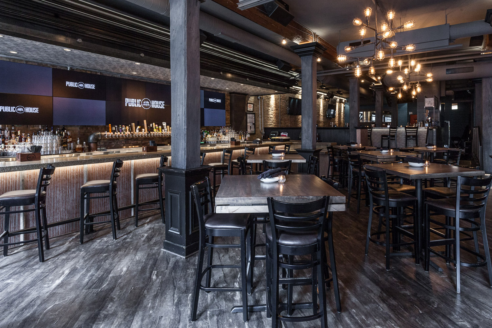 The West Bar event space at Public House in Chicago, Chicagoland Area