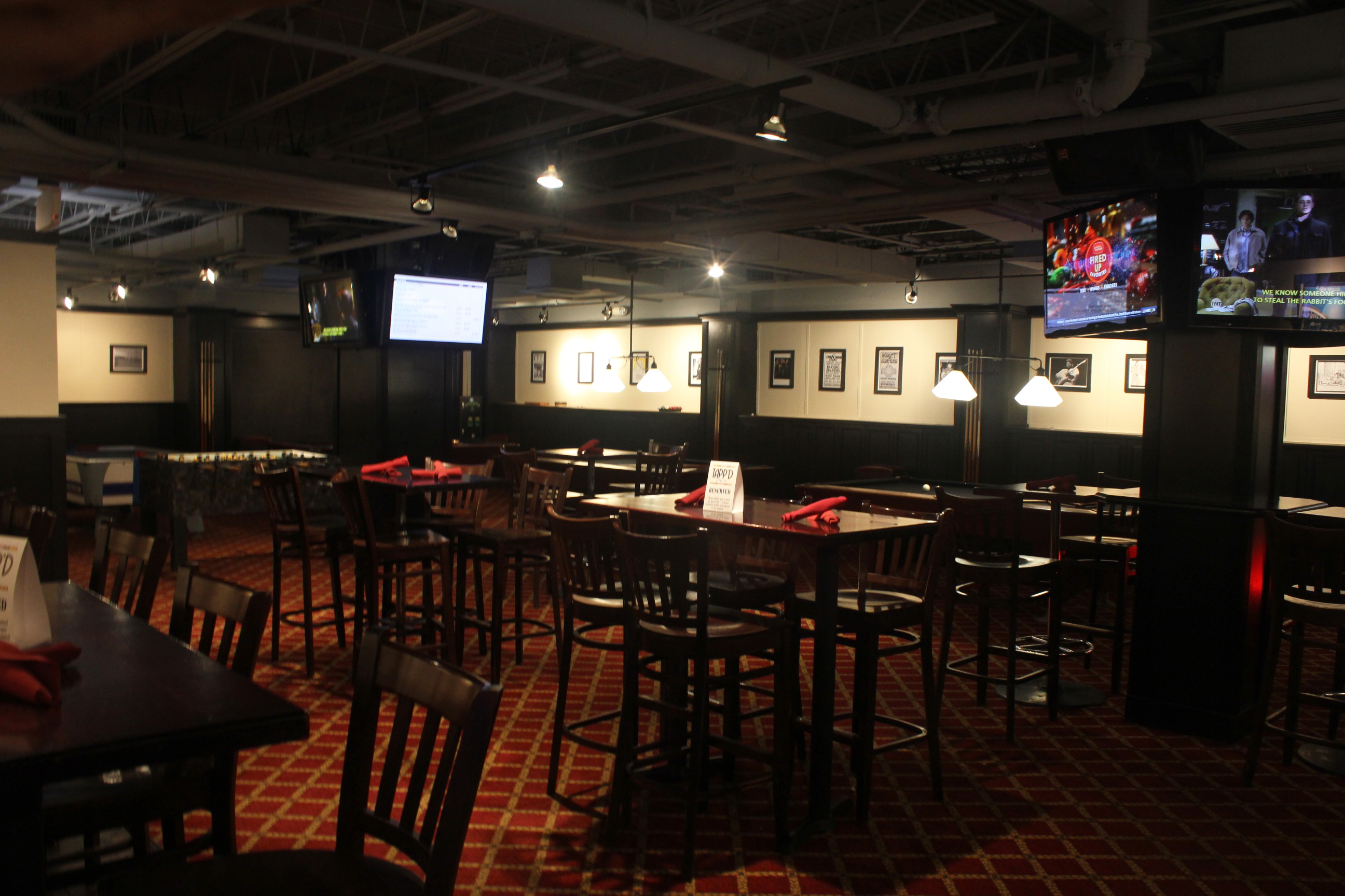 Game Room event space at Tapp'd Bethesda in Washington DC, Maryland, Virginia, DC Area