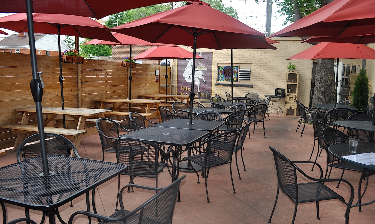 Patio event space at Angelo's Taverna Denver in denver