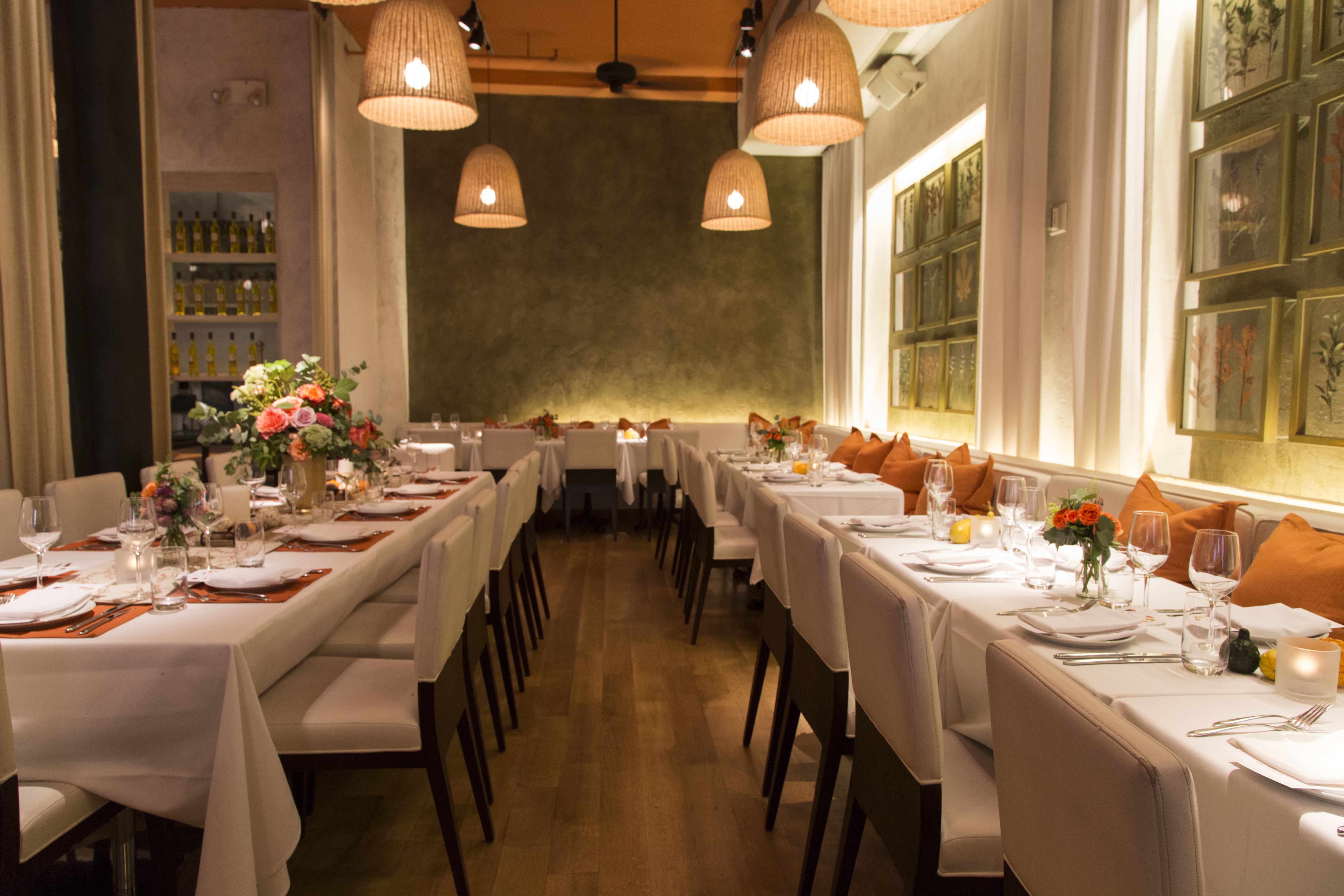 Photo #12 White Dining Room at Meatpacking District Restaurant
