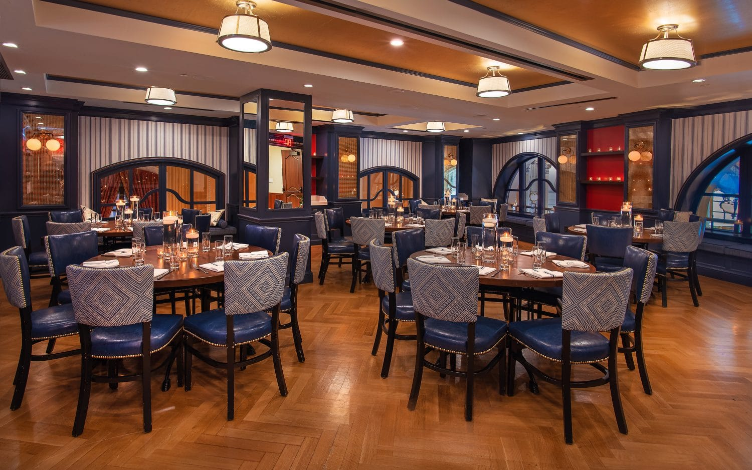 Pershing Private Dining Room event space at Café du Parc at The Willard InterContinental Hotel in Washington DC, Maryland, Virginia, DC Area
