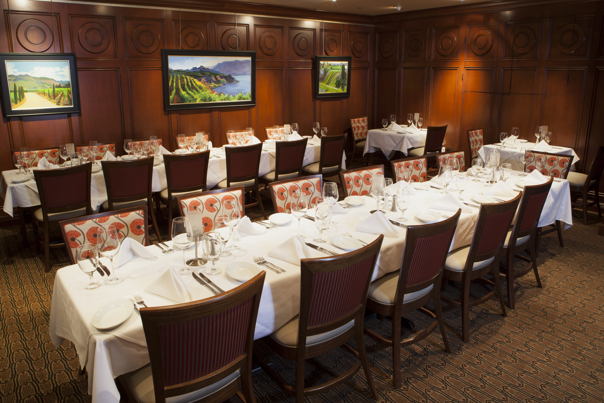 Sacramento Room event space at Ruth's Chris Steak House in San Francisco, SF Bay Area, San Fran