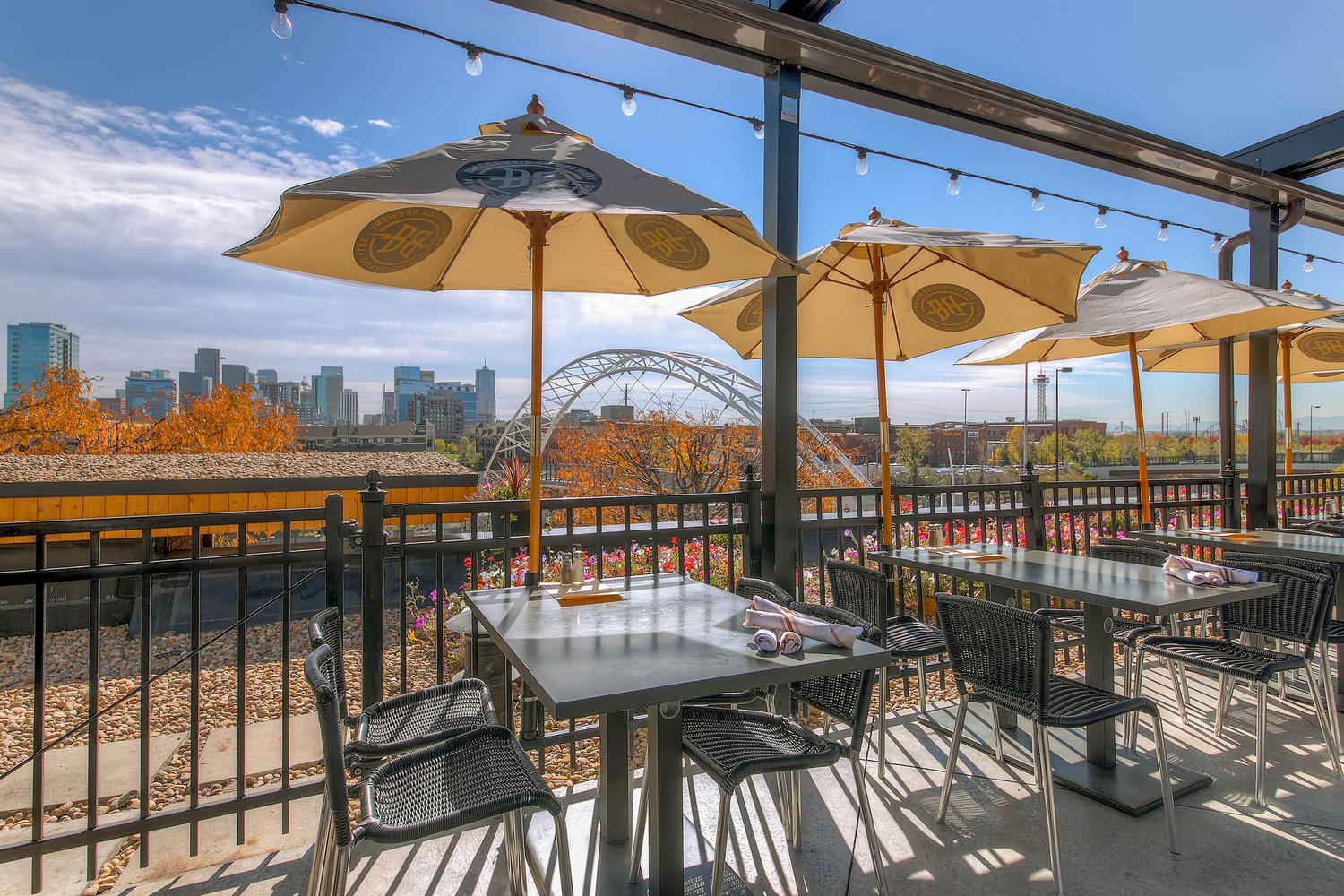 Rooftop event space at Ale House at Amato's in denver