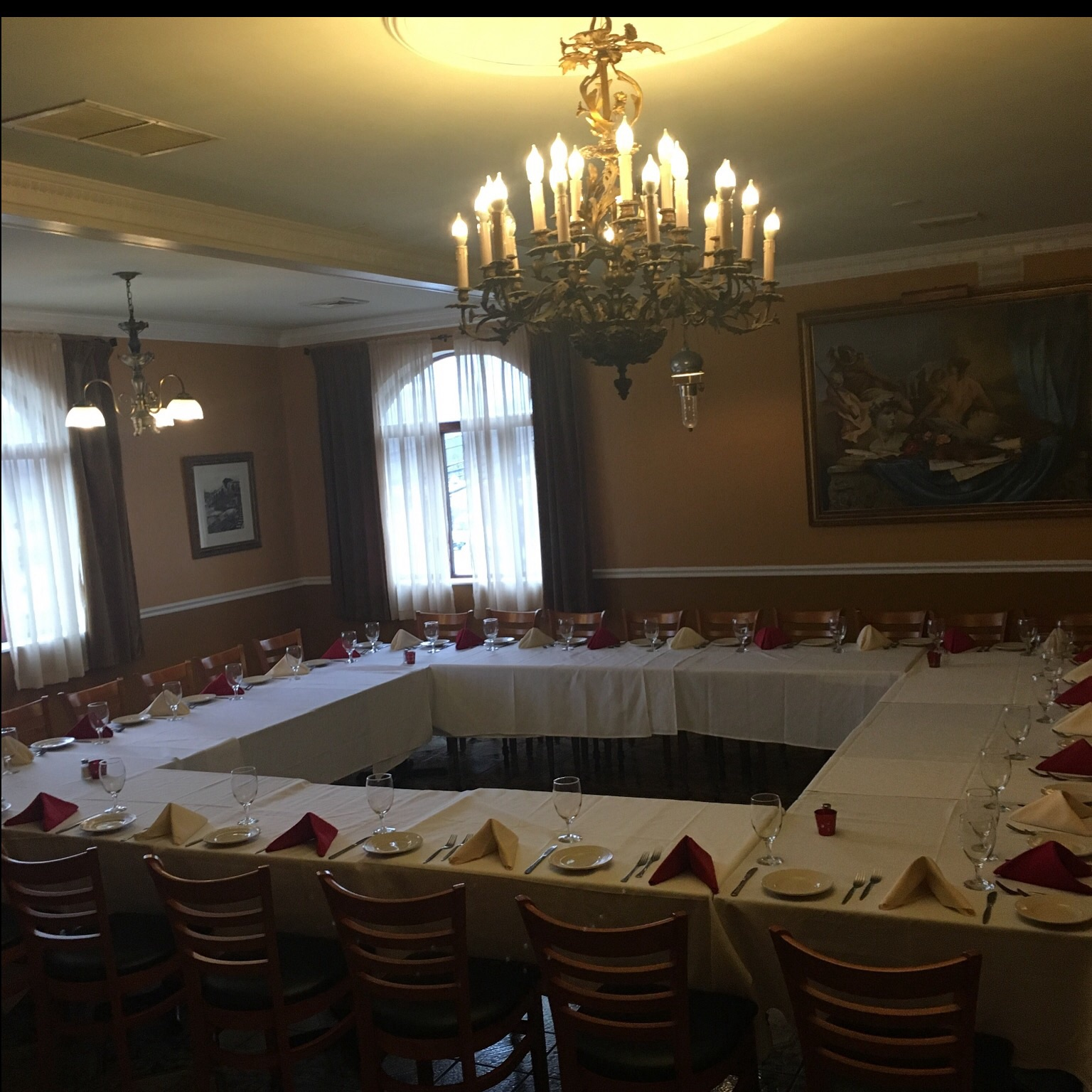 X room  event space at Castello Restaurant in Connecticut