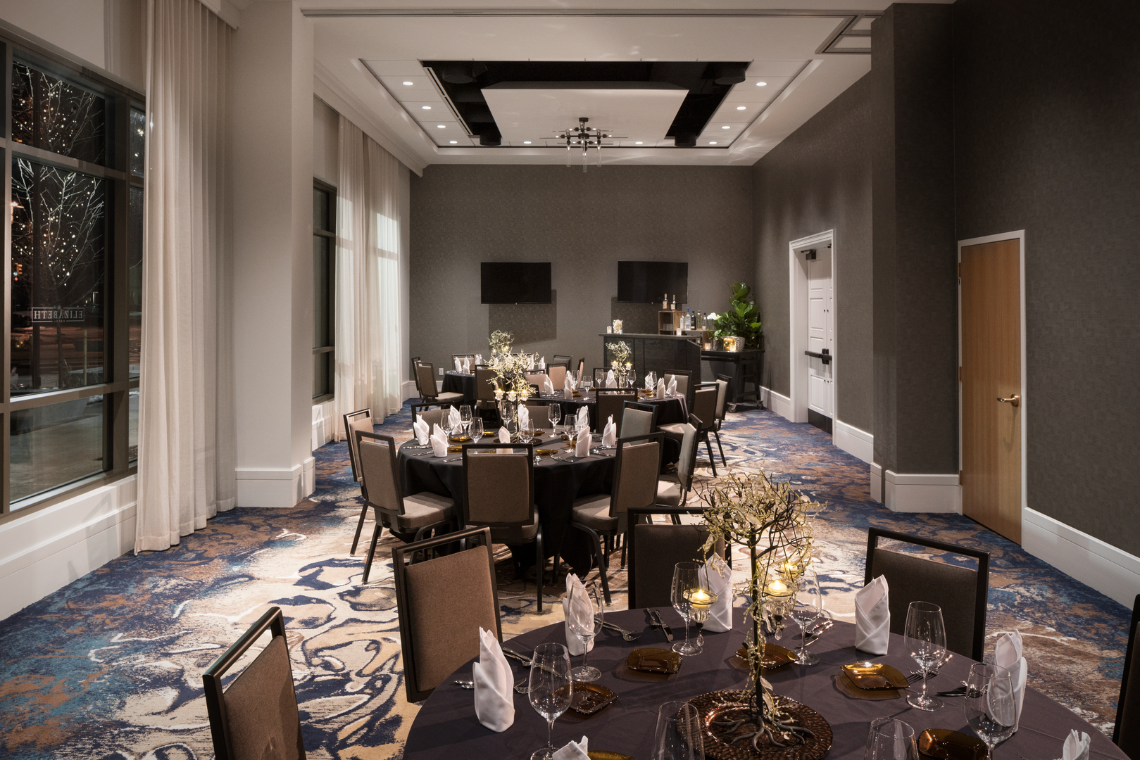 Chestnut Room event space at The Elizabeth Hotel in denver