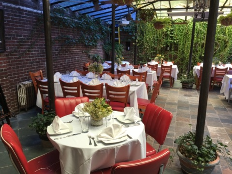 Garden event space at Pane E Vino in New York City, NYC, NY/NJ Area