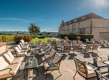 The Terrace event space at Domaine Carneros Winery in San Francisco, SF Bay Area, San Fran