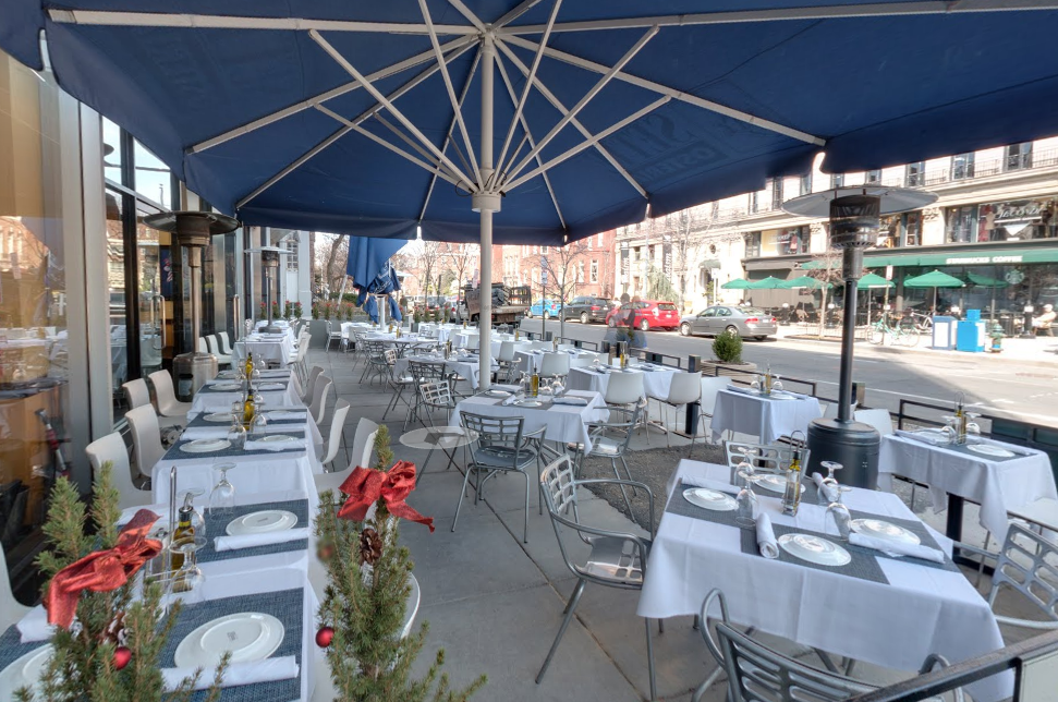 Outdoor Dining event space at Sette Osteria Restaurant in Washington DC, Maryland, Virginia, DC Area